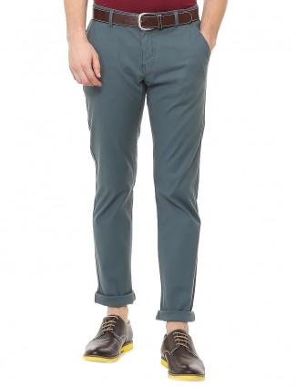 Allen Solly blue cotton fabric trouser