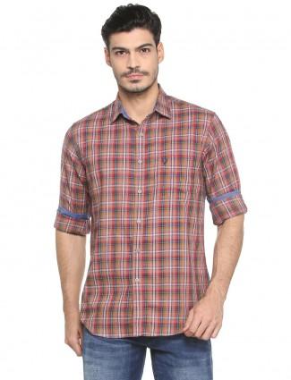 Allen Solly brown color shirt