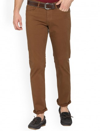 Allen Solly brown color trouser