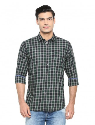 Allen Solly casual green shirt
