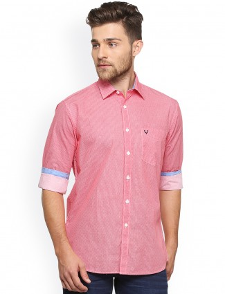 Allen Solly coral pink casual shirt