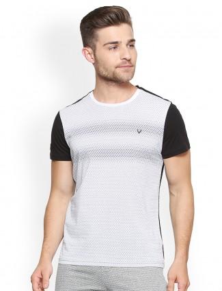 Allen Solly cotton fabric white t-shirt