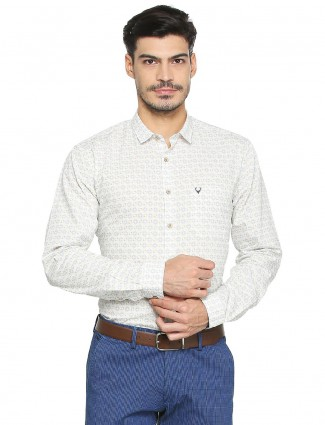 Allen Solly cream cotton shirt