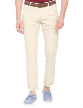 Allen Solly cream hue plain trouser