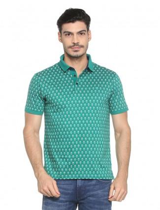 Allen Solly green cotton t-shirt