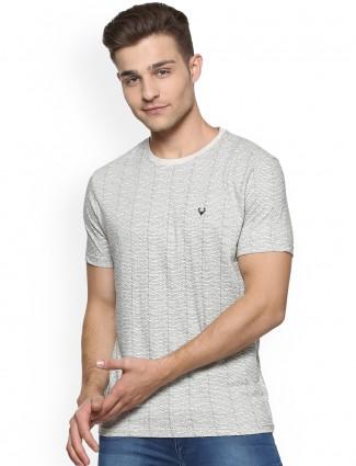 Allen Solly grey color cotton t-shirt