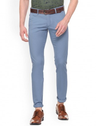 Allen Solly light blue solid trouser