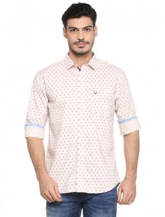 Allen Solly light pink casual shirt