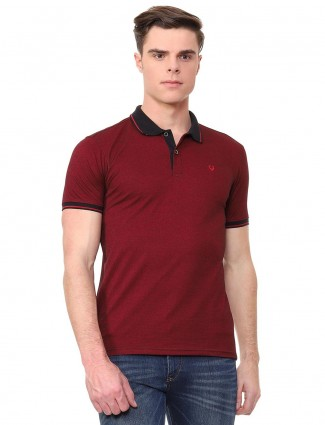 Allen Solly maroon hue solid t-shirt