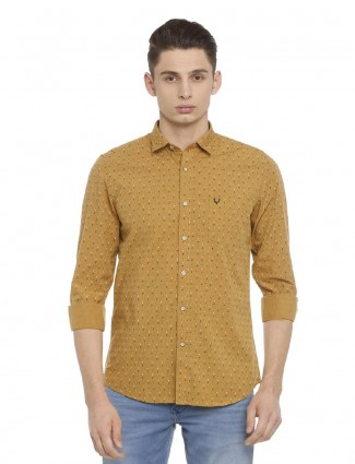 Allen Solly mustard yellow shirt