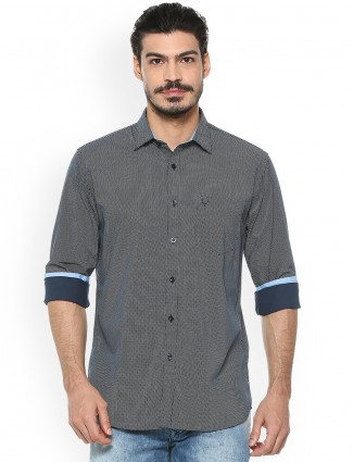 Allen Solly navy printed shirt