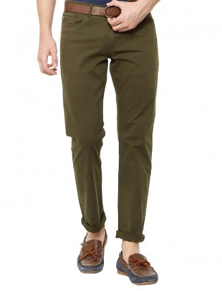 Allen Solly olive green casual trouser