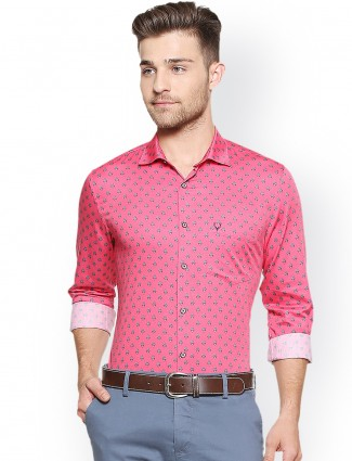 Allen Solly pink casual shirt