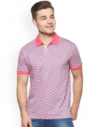 Allen Solly pink color printed t-shirt