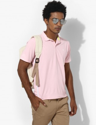 Allen Solly pink plain t-shirt
