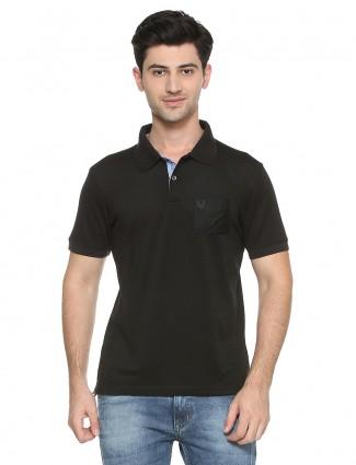 Allen Solly plain black color t-shirt