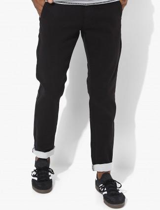 Allen Solly plain black hue trouser
