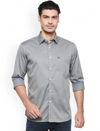 Allen Solly plain grey shirt