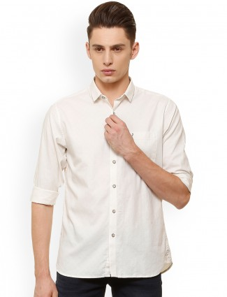 Allen Solly plain off white shirt