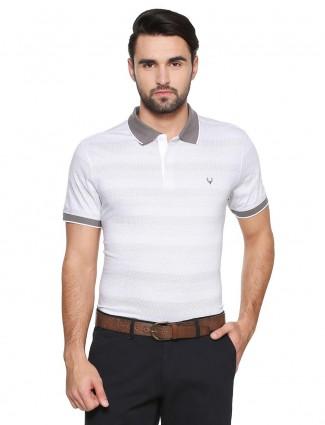 Allen Solly plain white color t-shirt