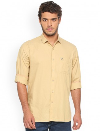 Allen Solly plain yellow shirt