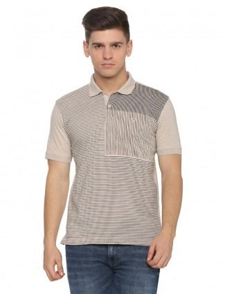 Allen Solly presented beige stripe t-shirt