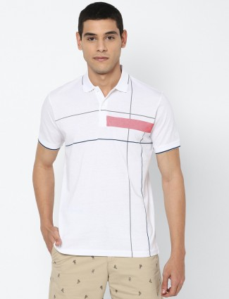 Allen Solly presented white solid t-shirt