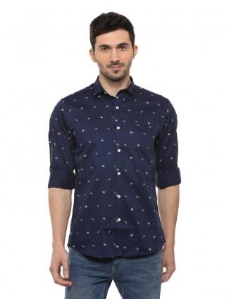 Allen Solly printed navy casual shirt