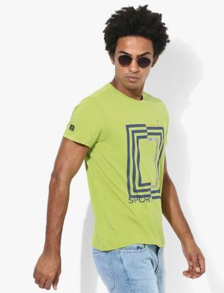 Allen Solly printed green t-shirt