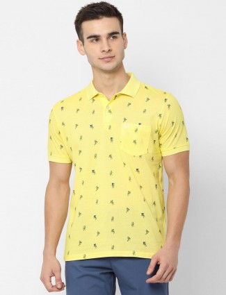 Allen Solly printed yellow t-shirt