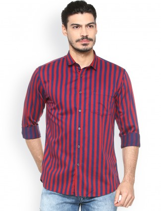 Allen Solly red and blue shirt