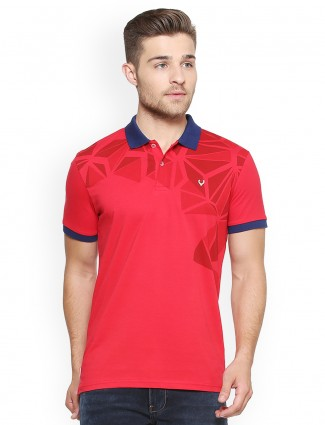 Allen Solly red color printed t-shirt