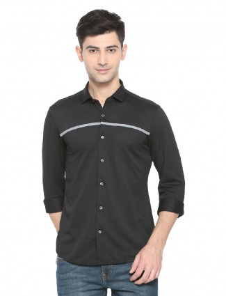Allen Solly simple black shirt