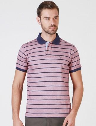 Allen Solly slim fit violet color t-shirt