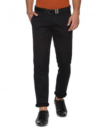 Allen Solly solid black hue cotton trouser