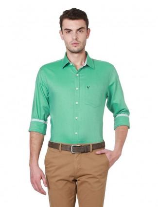 Allen Solly solid parrot green shirt
