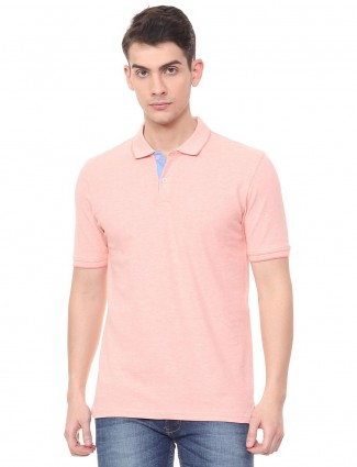 Allen Solly solid pink hued t-shirt