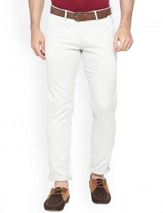 Allen Solly solid white trouser