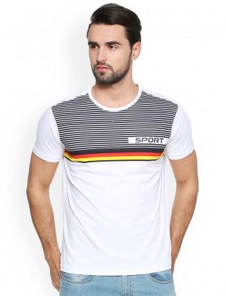 Allen Solly white color cotton t-shirt