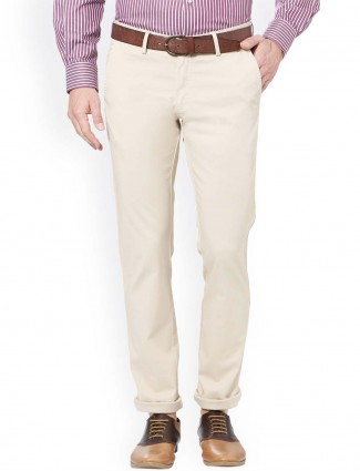 Allen Solly white colored solid trouser