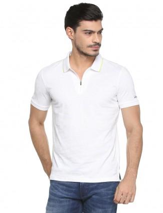 Allen Solly white cotton fabric t-shirt