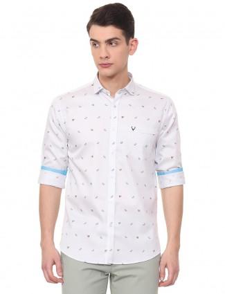 Allen Solly white printed pattern shirt