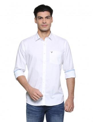 Allen Solly white solid shirt
