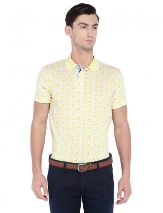 Allen solly yellow hue cotton t-shirt