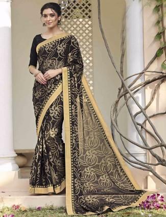 Alluring chiffon brasso festive wear saree