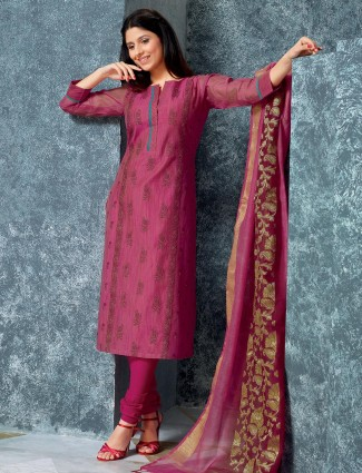 Alluring purple punjabi dress for festive