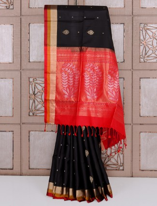Amazing black silk saree