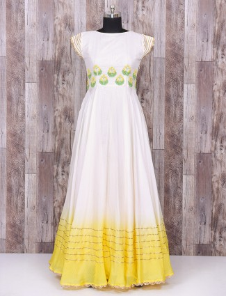 Anarkali suit in white color