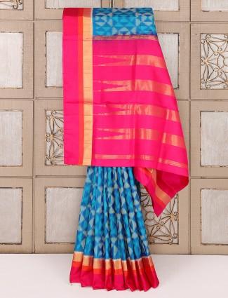 Aqua reception wear saree