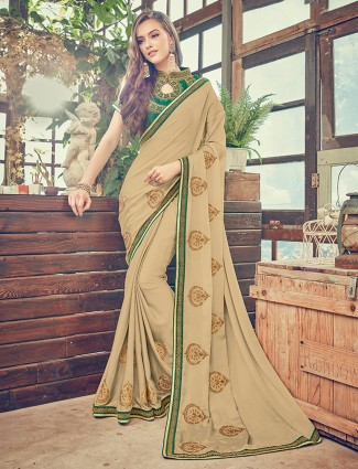 Attractive festive wear alluring silk saree
